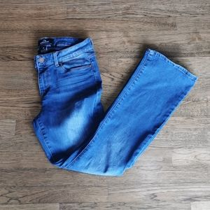 Jordache Stretch Mid-Rise Faded Bootcut Jeans 10